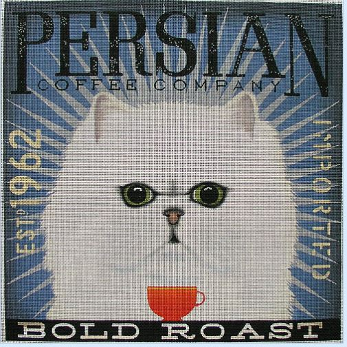 click here to view larger image of Persian (Dark Roast) (hand painted canvases)