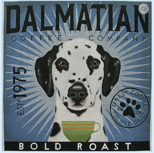 click here to view larger image of Dalmation (Bold Roast) (hand painted canvases)