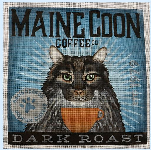 click here to view larger image of Maine Coon (Dark Roast) (hand painted canvases)