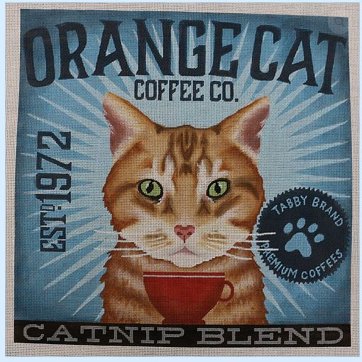 click here to view larger image of Orange Cat (Catnip Blend) (hand painted canvases)