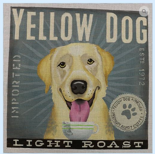 click here to view larger image of Yellow Dog (Light Roast) (hand painted canvases)