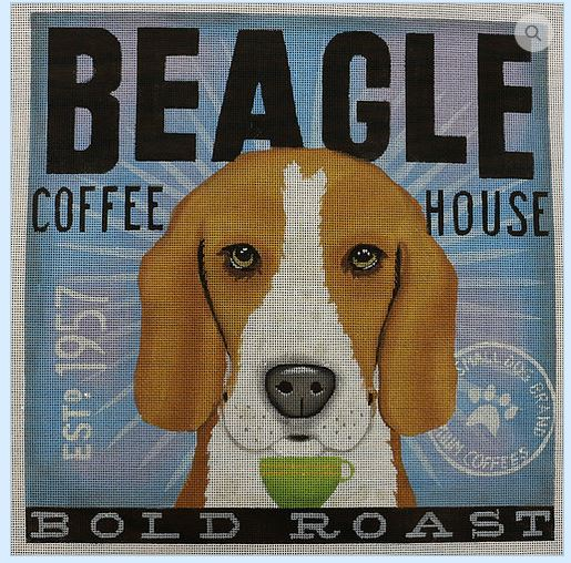 click here to view larger image of Beagle (Bold Roast) (hand painted canvases)