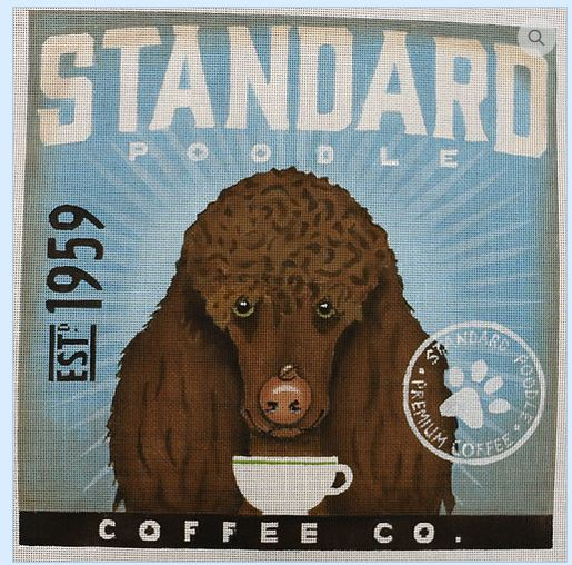 click here to view larger image of Standard Poodle (hand painted canvases)