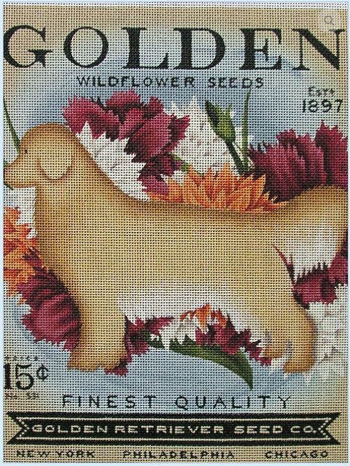 click here to view larger image of Golden Widflower Seeds (hand painted canvases)