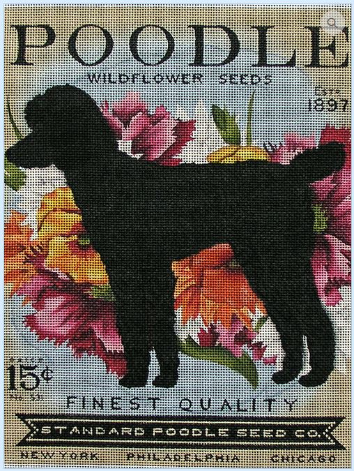 click here to view larger image of Poodle Widflower Seeds (hand painted canvases)