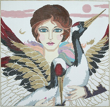 click here to view larger image of Bird Lady (hand painted canvases)