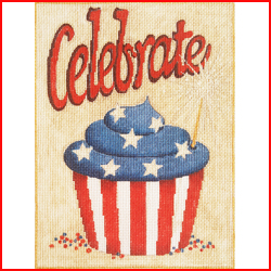 click here to view larger image of Celebrate Cupcake (hand painted canvases)