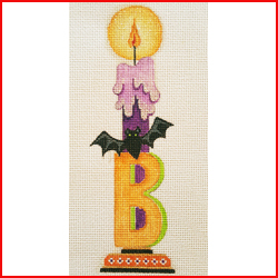 click here to view larger image of B Candle (Bat) (hand painted canvases)