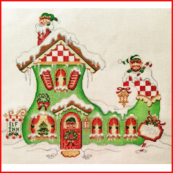 click here to view larger image of Elf Shoe House (hand painted canvases)
