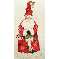 click here to view larger image of Heart Santa (hand painted canvases)