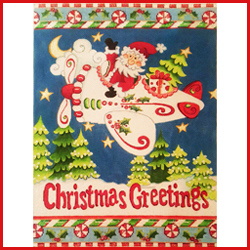 click here to view larger image of Santa and Christmas Airplane (hand painted canvases)