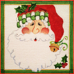 click here to view larger image of Christmas Santa Square 1 (hand painted canvases)
