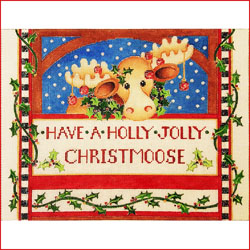 click here to view larger image of Holly Jolly Christmoose (hand painted canvases)
