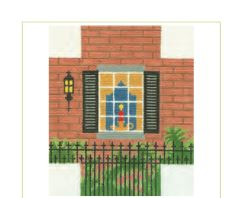 click here to view larger image of Brick Window Scene (hand painted canvases)