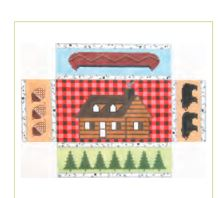 click here to view larger image of Adirondack Cabin Doorstop (hand painted canvases)