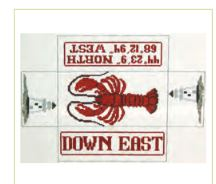 click here to view larger image of Lobster Doorstop (hand painted canvases)