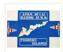 click here to view larger image of Fishers Island Doorstop (hand painted canvases)