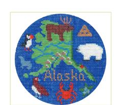 click here to view larger image of Alaska Ornament (hand painted canvases)