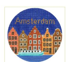 click here to view larger image of Amsterdam Ornament (hand painted canvases)