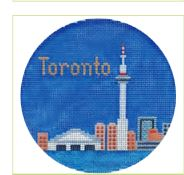 click here to view larger image of Toronto Ornament (hand painted canvases)