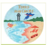 click here to view larger image of Turks And Calcos Ornament (hand painted canvases)