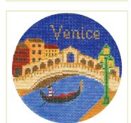 click here to view larger image of Venice Ornament (hand painted canvases)