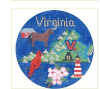 click here to view larger image of Virginia Ornament (hand painted canvases)