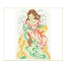 click here to view larger image of Yellow Angel (hand painted canvases)