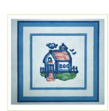 click here to view larger image of Hadley Pottery - Small Barn (hand painted canvases)