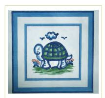 click here to view larger image of Hadley Pottery - Small Turtle (hand painted canvases)