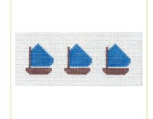 click here to view larger image of Blue Sailboats Jewelry Box Insert (hand painted canvases)