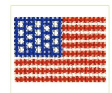 click here to view larger image of American Flag Mini (hand painted canvases)