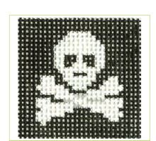 click here to view larger image of Jolly Roger Mini (hand painted canvases)
