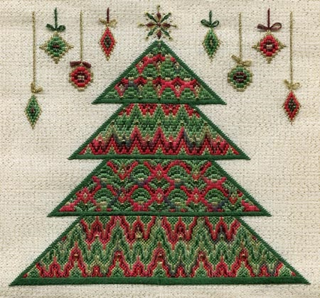click here to view larger image of Bargello Christmas Tree (Includes Embellishments) (counted canvas work)