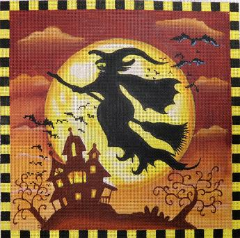 click here to view larger image of Spooky Hollow Witch (hand painted canvases)