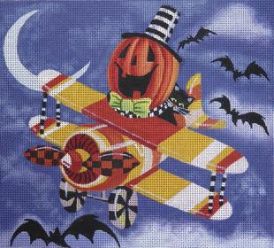 click here to view larger image of Pumpkin Pilot (hand painted canvases)