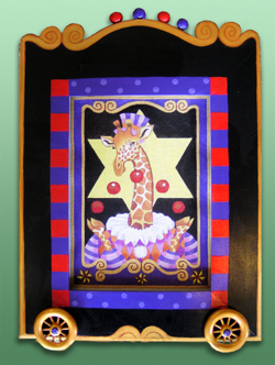 click here to view larger image of Frame For Circus Giraffe (Custom painted frames)