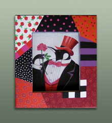 click here to view larger image of Frame For Dapper Penguin (Custom painted frames)