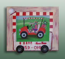 click here to view larger image of Frame For Gator Golf (Custom painted frames)
