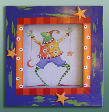 click here to view larger image of Frame For Frog With Sun Star Moon (Custom painted frames)