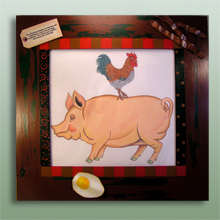click here to view larger image of Frame For Commitment Pig (Custom painted frames)