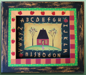 click here to view larger image of Frame For Alphabet House (Custom painted frames)
