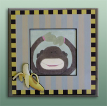 click here to view larger image of Frame For Baby Monkey (Custom painted frames)