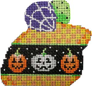 click here to view larger image of Pumpkin Checks Halloween Mouse (hand painted canvases)