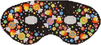 click here to view larger image of Candy Confetti Large Mask (hand painted canvases)