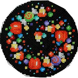 click here to view larger image of Candy Confetti Large Round (hand painted canvases)