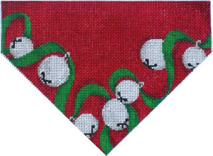 click here to view larger image of Jingle Bells/Red Ground Stocking Top (hand painted canvases)