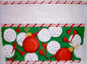 click here to view larger image of Golf Stocking Cuff (hand painted canvases)