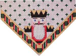 click here to view larger image of Nutcracker King Stocking Top (hand painted canvases)