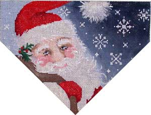 click here to view larger image of Santa Snowflakes Stocking Top (hand painted canvases)